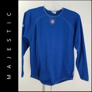 Majestic Chicago Cubs Pregame Jersey Long Sleeve